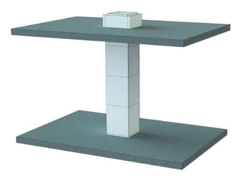 Conduit de ventilation et de désenfumage vertical Geostaff