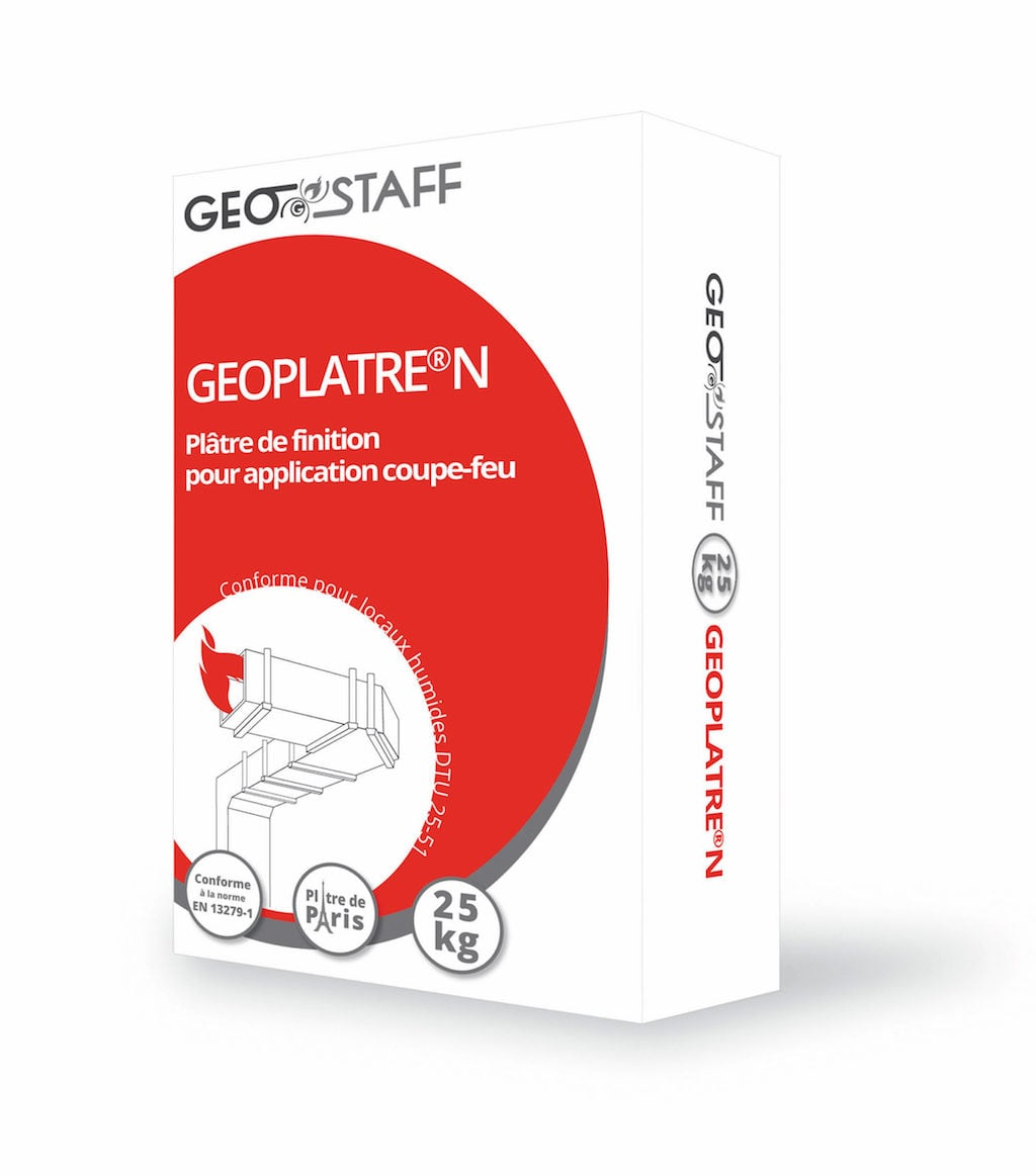 Geostaff fire-resistant plaster for passive fire protection