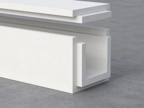 GEOFLAM-C-Light Geostaff fire protection plaster channels for passive fire protection