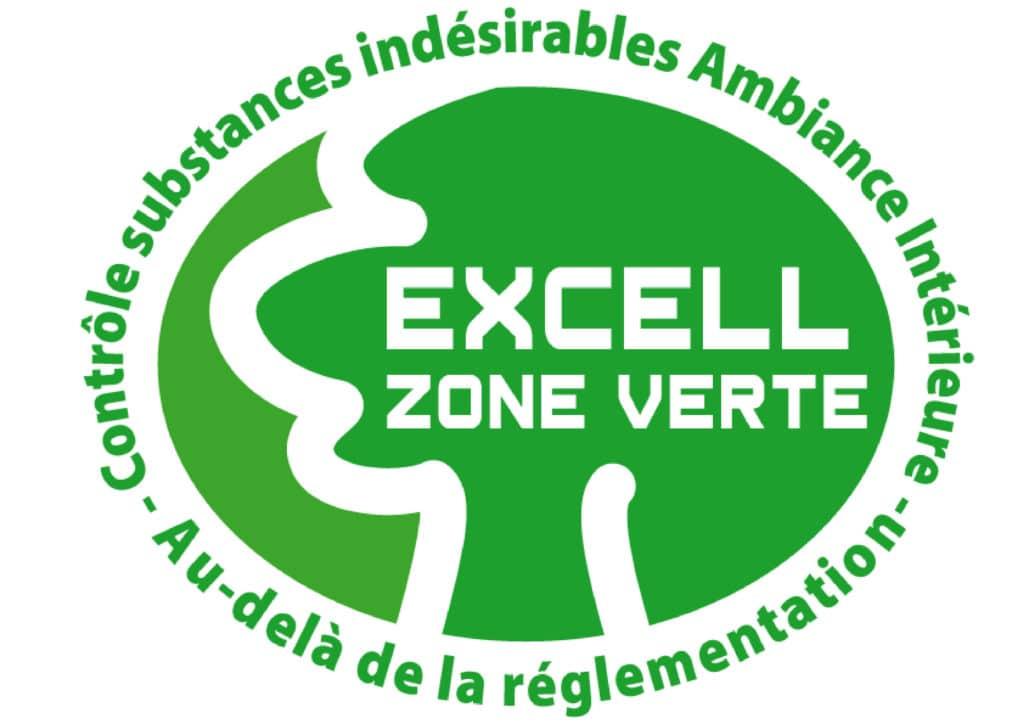 logo label Excell zone verte